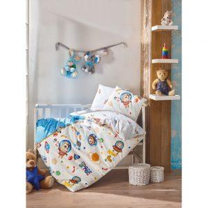 купить Постельное белье Cotton Box для новорожденных Uzay Oyunu Mavi 100x150