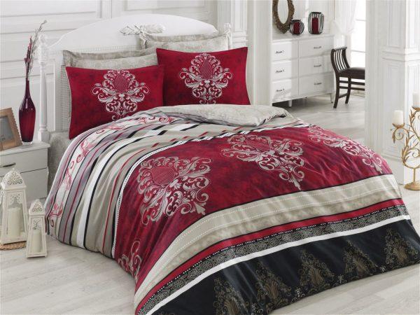купить Постельное белье Cotton Box Royal ASRA BORDO 200x220