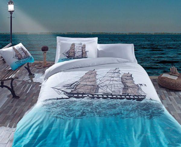 купить Постельное белье Cotton Box SHIP  MAVI 200x220