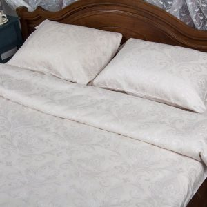 купить Постельное белье Deco Bianca сатин жаккард jk17-01 kurik beyaz 200x220