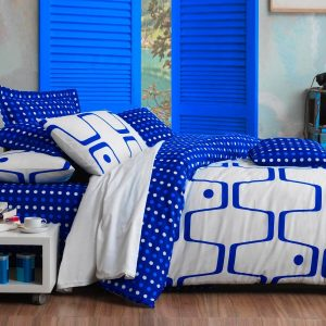 купить Постельное белье Eponj Home Geo Mavi ранфорс 200x220