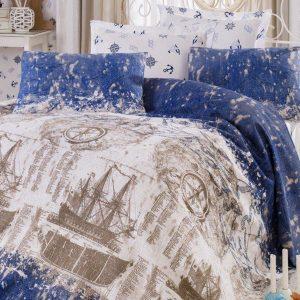 купить Постельное белье Eponj Home Pike Pusula k.mavi 200x235
