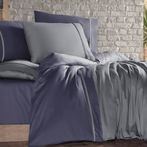 Постельное белье First Choice сатин duman indigo 200×220