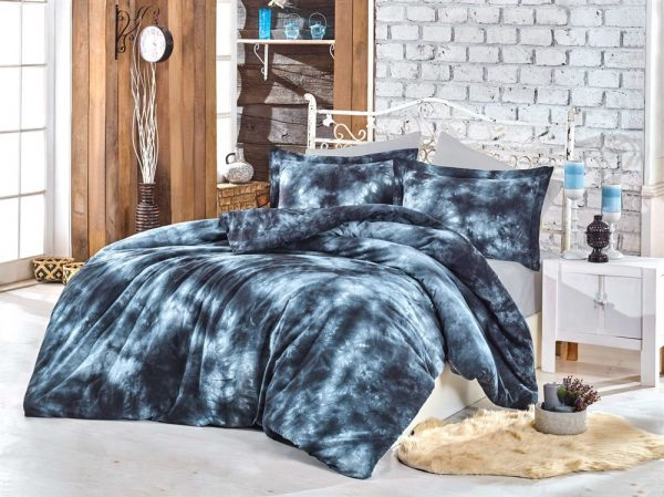 купить Постельное белье Hobby Batik Gizem синий 200x220