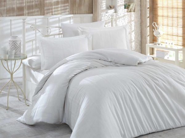 купить Постельное белье Hobby Exclusive Sateen Diamond Stripe белый 160x220 (2 шт)