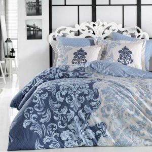 Постельное белье Hobby Flannel Mirella голубой 200×220