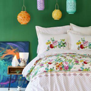 Постельное белье Karaca Home ранфорс – Irini fusya 2019-2 200×220