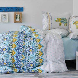 купить Постельное белье Karaca Home ранфорс Marodisa mavi 2018-2