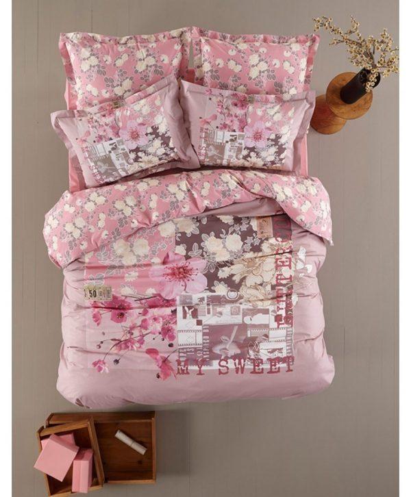 купить Постельное белье Karaca Home ранфорс Melinda 160x220
