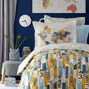 Постельное белье Karaca Home – Farte mavi 2019-2 ранфорс 160×220