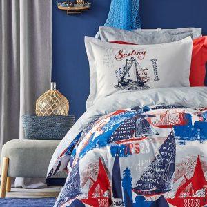 Постельное белье Karaca Home – Hutson mavi 2019-2 ранфорс 160×220