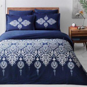 Постельное белье King Size ТМ TAC Rados Blue Сатин Delux 220×240