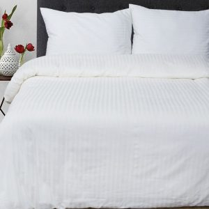 купить Постельное белье Lotus Отель Сатин Страйп Белый