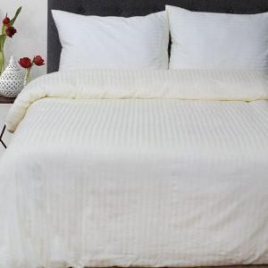 купить Постельное белье Lotus Отель Сатин Страйп Кремовый