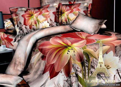 купить Постельное белье Love you Сатин 3D чары 160x220