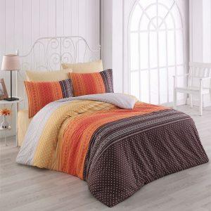 Постельное белье Majoli Summer v2 Oranj 200×220