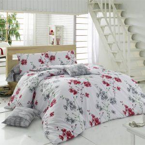 Постельное белье Maxstyle Terry Cotton – Elfida красное 160×220