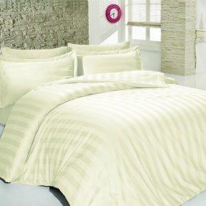 Постельное белье SoundSleep сатин-жаккард Stripes Cream