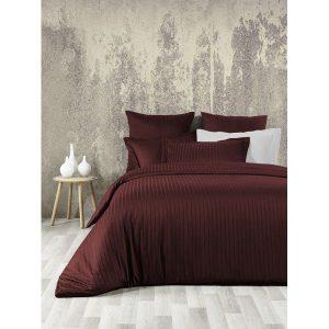 Постельное белье SoundSleep Line Bordo сатин-жаккард бордовый 200×220