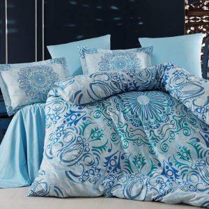 Постельное белье SoundSleep Monte Carlo mavi сатин 200×220