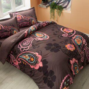 Постельное белье TAC сатин – Laven siyah v01 200×220