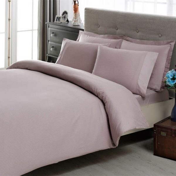 купить Постельное белье TAC Premium Basic - Stripe lila 200x220