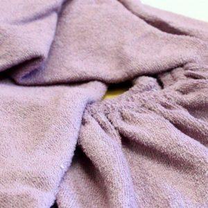 Простынь на резинке Махровая 160*200+25 фиолетовый 160×220