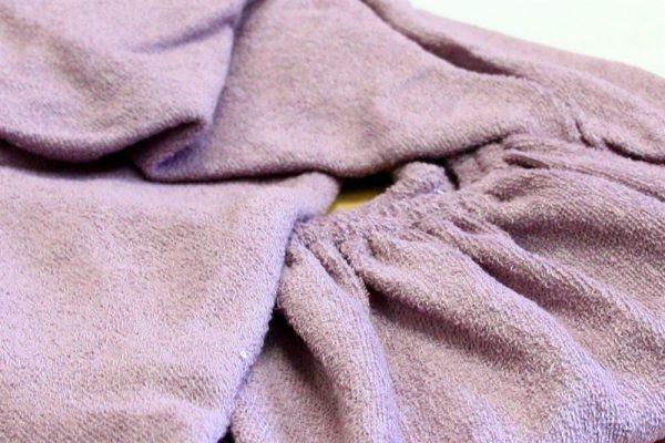 купить Простынь на резинке Махровая 160*200+25 фиолетовый 160x220