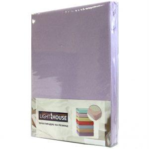 Простынь на резинке фиолетовая 2