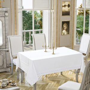купить Скатерть Tabe Joie Collection White 160x220