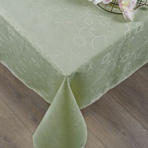 Скатерть Tac – Lilium оливка 160×160