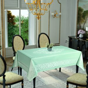 Скатерть Tropik Home Damask Mint 9956-9 150×220