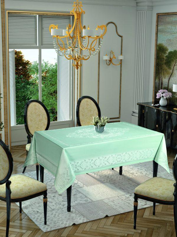купить Скатерть Tropik Home Damask Mint 9956-9 150x220