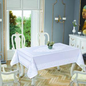 купить Скатерть Tropik Home Damask White 5698-8 150x220