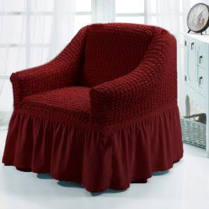 купить Чехол на кресло Love you бордо