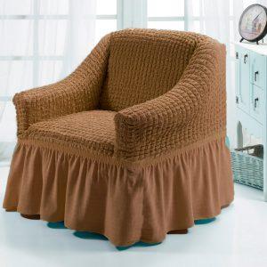 Чехол на кресло Love you какао