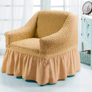 купить Чехол на кресло Love you натурал