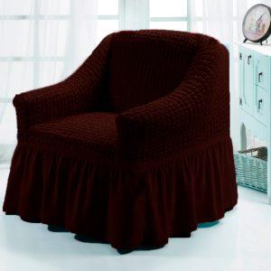 Чехол на кресло Love you черный шоколад