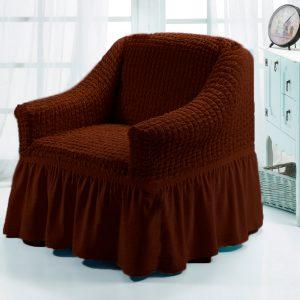 Чехол на кресло Love you шоколад