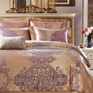 Шелковое постельное белье La Scala жаккард JP-22