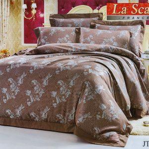 Шелковое постельное белье La Scala жаккард JT-46