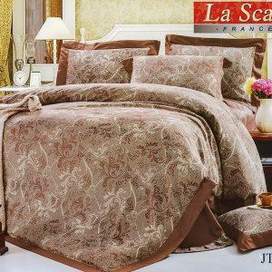 Шелковое постельное белье La Scala жаккард JT-47