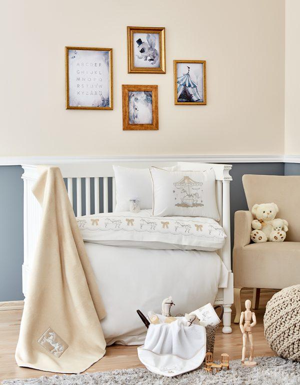 купить Детский набор в кроватку для младенцев Karaca Home Atlikarinca 2019-2 bej (8 предметов) Бежевый фото