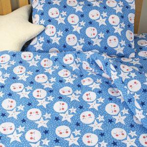 Детское постельное белье для младенцев Lotus ранфорс LoNy Голубой 100×150