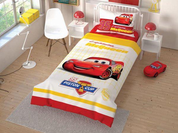 купить Детское постельное белье TAC Cars Cek Ранфорс Красный фото