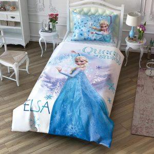 купить Детское постельное белье TAC Frozen Cek Ранфорс Голубой фото