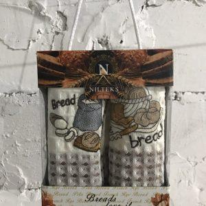 Набор кухонных полотенец Nilteks Breads Love It V02 2 шт 35×50