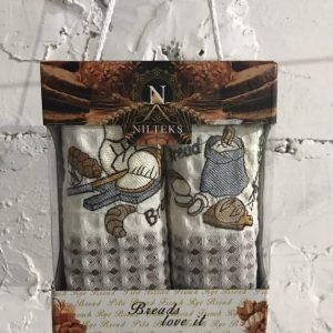 Набор кухонных полотенец Nilteks Breads Love It V03 2 шт 35×50
