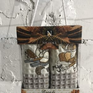 Набор кухонных полотенец Nilteks Breads Love It V04 2 шт 35×50