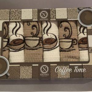 Набор кухонных полотенец Nilteks Coffee Time 6 шт 40×60